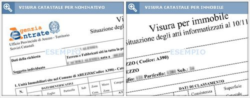 Visura catastale per immobile good visura catastale per - Visura catastale per nominativo ...